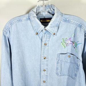 Peregrine Bay Humming Bird Classic Chambray Shirt
